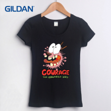 Marvel Women Courage The Cowardly Dog Courage T-shirt S-XL