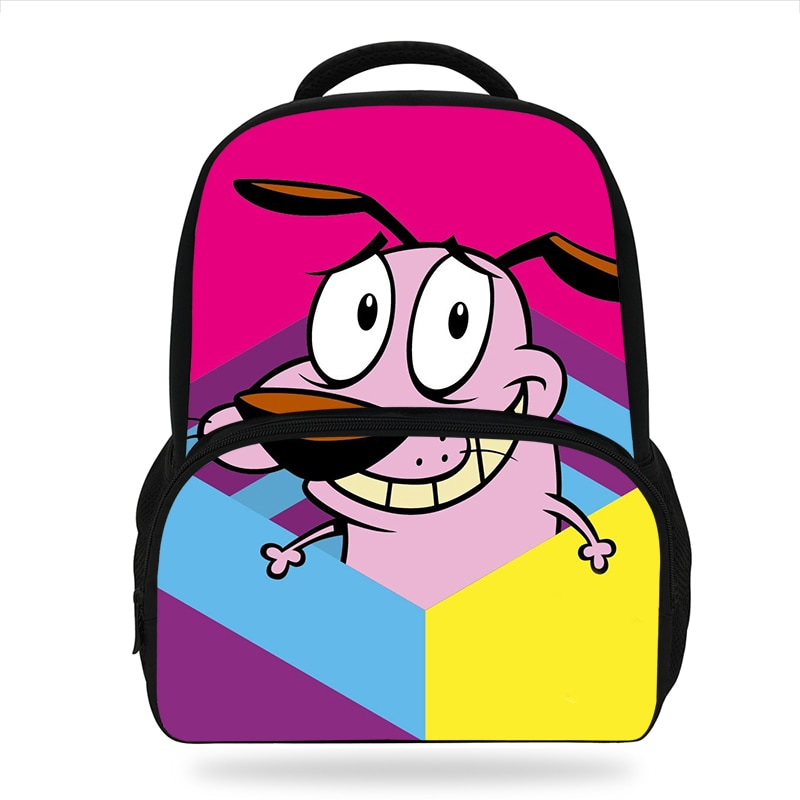 New Cartoon Courage The Cowardly Dog printing Backpack Cute Pattern Kids Book Bags Girls School Backpacks Kindergarten Bag boys