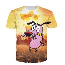 3D T Shirt Courage The Cowardly Dog Men Women Bomb