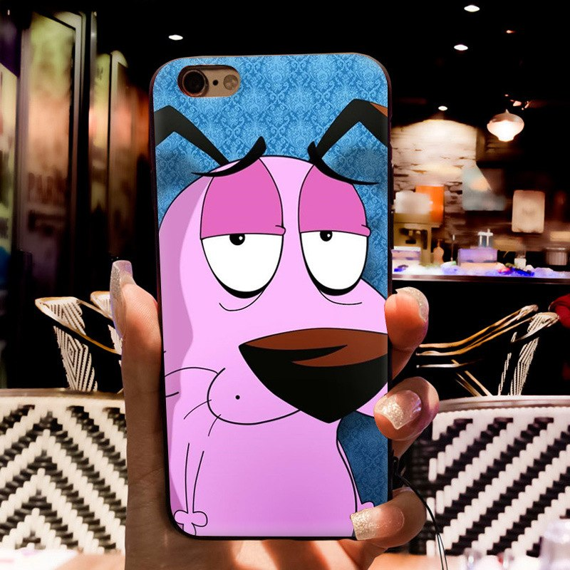courage the cowardly dog Coque Shell Phone Case for Apple iPhone 8 7 6 6S Plus X 5 5S SE 5C Cover XS XR XSMAX