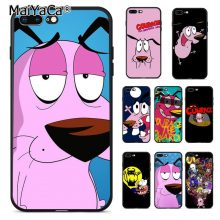 Courage the Cowardly Dog Phone Case Apple iPhone New Black Pink Blue