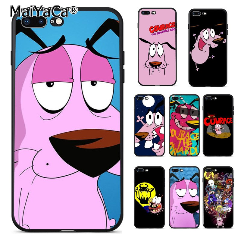 MaiYaCa courage the cowardly dog Coque Shell Phone Case  for Apple iPhone 8 7 6 6S Plus X 5 5S SE 5C Cover XS XR XSMAX
