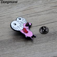 Courage The Cowardly Dog Metal Enamel Pin for Backpack/Bag/Jeans Clothes Badge Lapel Brooch Jewelry 1pcs