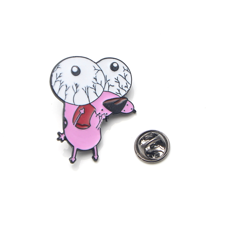 COURAGE The Cowardly Dog Metal Enamel Pin for Backpack/Bag/Jeans Clothes Badge Lapel Pin Brooch Jewelry 1pcs