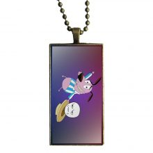 Long Chain With Rectangle Necklace Jewelry Courage The Cowardly Dog