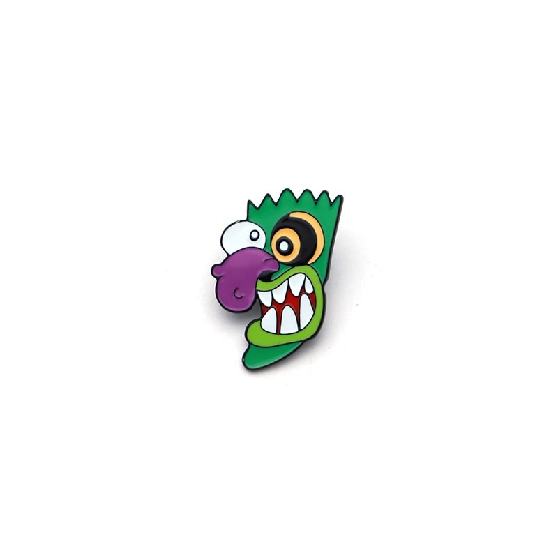 Funny Cartoon Ooga Booga Enamel Pin Courage the Cowardly Dog Lapel Pin Badge Pins Jewelry Gifts For Denim Jacket Scarf