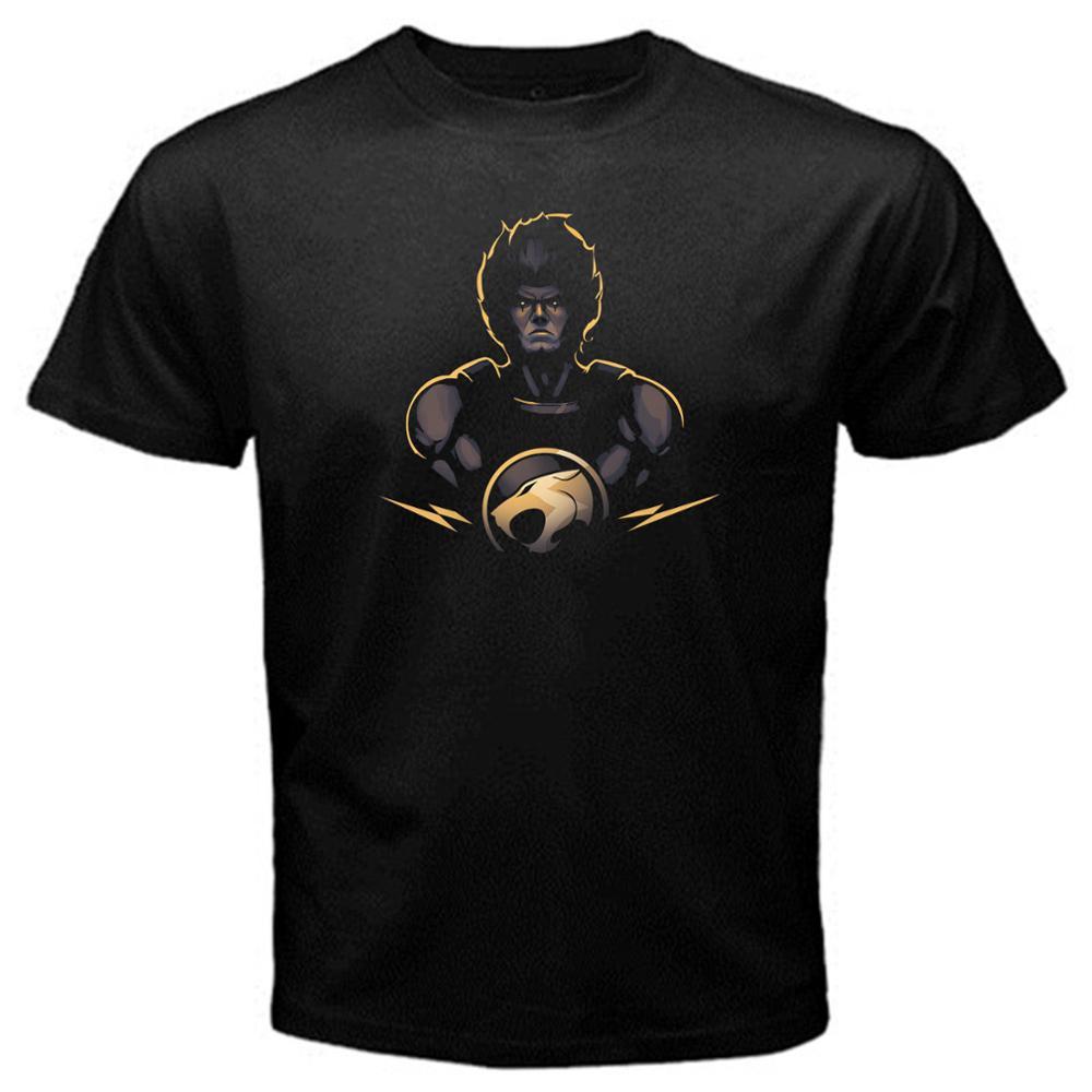 Funny Shirts Crew Neck Short-Sleeve Lion-o Thundercats 1 cartoon classic tv series T-Shirt Black Basic Tee