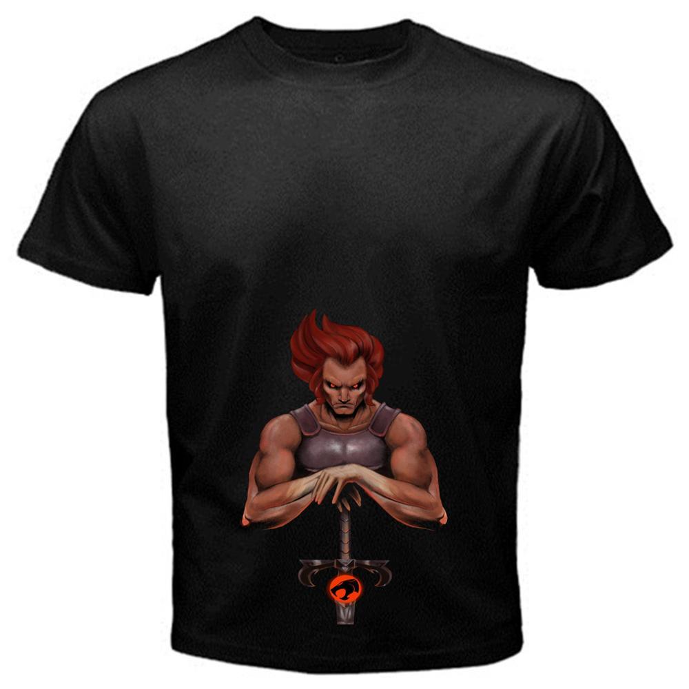3D Print T Shirt Cotton Tops Tee Lion-o 2 Thundercats cartoon classic tv series T-Shirt Black Basic Tee panthro