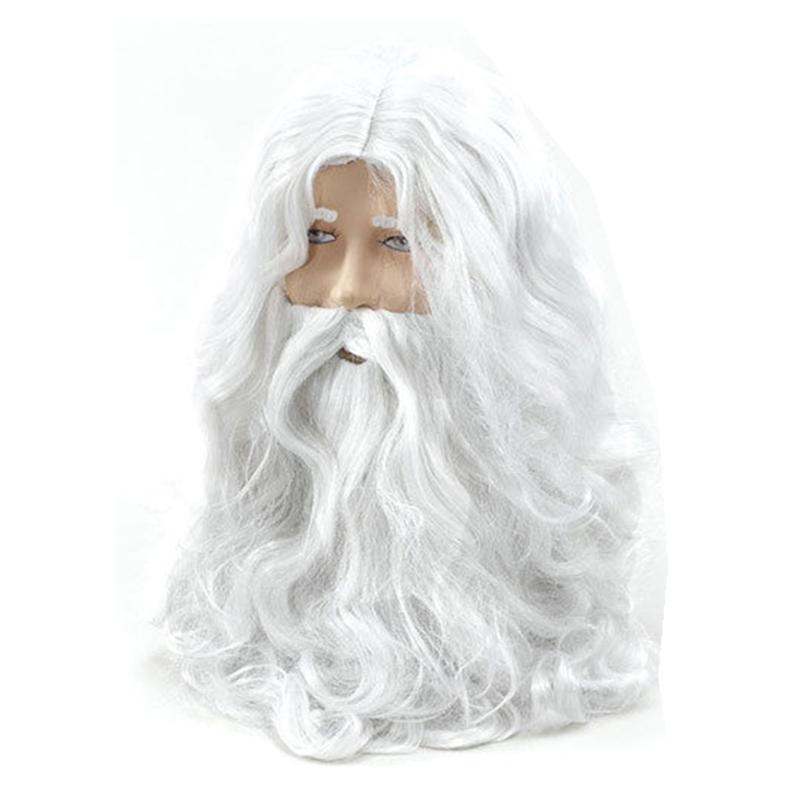 White Costume Wig Beard